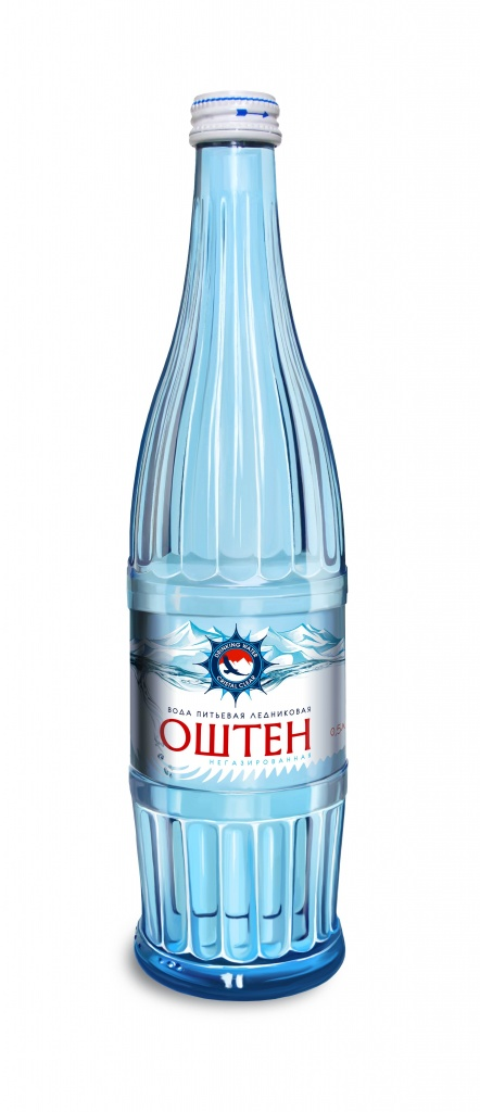 Вода негазированная «Оштен» 0,5 л, Стекло